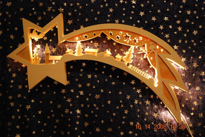 Schwibb gen und deko aus holz - Stern beleuchtet weihnachten ...
