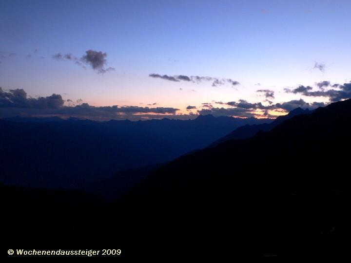 Sonnenuntergang an der Sudetendeutschen Hütte