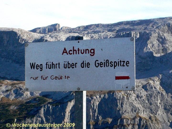 Fototour zur Geißspitze