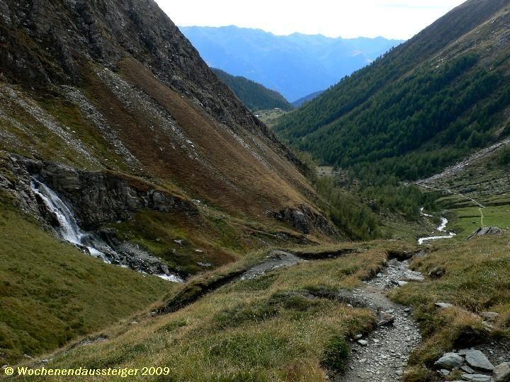 - Der Abstiegsweg -