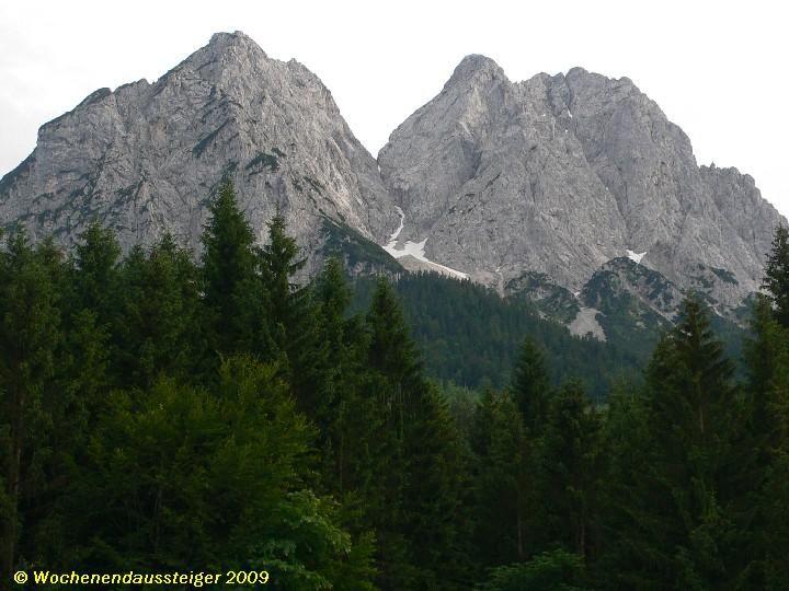 Waxenstein von Hammersbach aus gesehen