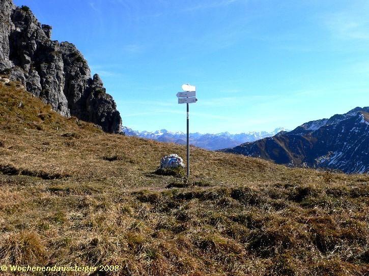 rechts gehts zum Gipfel