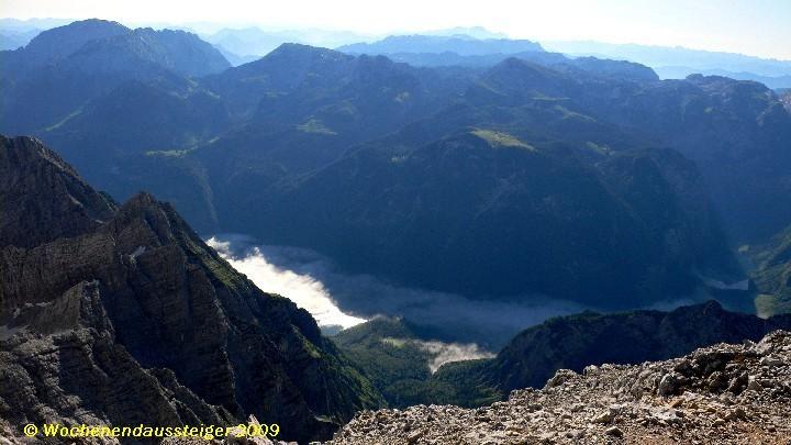 Mittelspitze mit Blick auf den Königssee