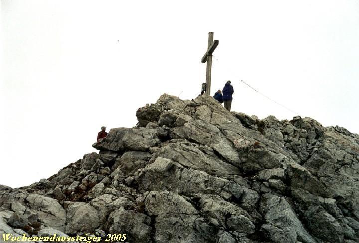 leichte Kletterei zum Gipfel