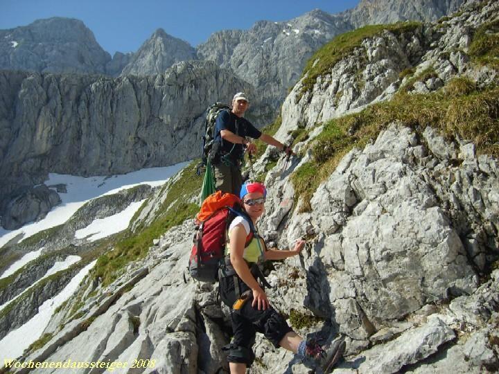 auf dem ersten Klettersteig