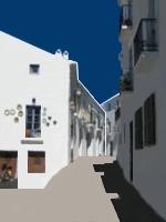 Strasse in Antequera Andalusien Provinz Málaga Spanien