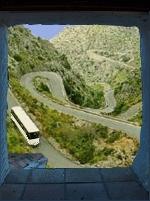 Busfahrt Busverbindung Strecke Almogía nach Málaga Andalusien Spanien