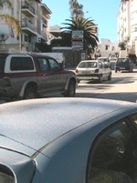 Fahrt durch Alhaurín el Grande in Andalusien Provinz Málaga Spanien
