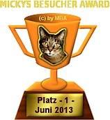 James Bond Dog Hund - Micky Award Juni 2013 Griechenland Italien Österreich Spanien