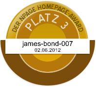 James Bond Dog Hund - Silber - Npage Award 2012 Griechenland Italien Österreich Spanien