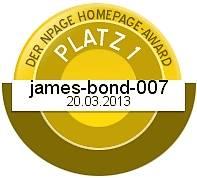 James Bond Dog Hund - Silber - Npage Award 2013 Griechenland Italien Österreich Spanien