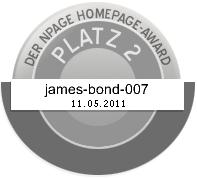 James Bond Dog Hund - Silber - Npage Award 2011 Griechenland Italien Österreich Spanien