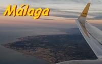 Anflug auf der Malaga Airport Flughafen Costa del Sol Andalusien Spanien