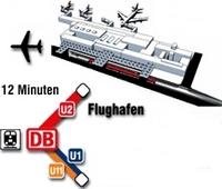 Karte U-Bahn zum Airport Nürnberg - Bayern - Deutschland