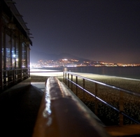 Strand bei Nacht in Fuengirola Costa del Sol Provinz Malaga Andalusien Spanien