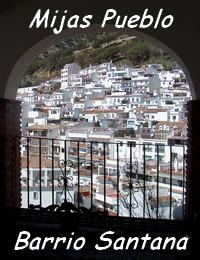 Stadthaus in dem weissen Dorf Mijas Pueblo im Stadtviertel (Barrio) Santana - Provinz Málaga - Costa del Sol -  Andalusien - Spanien