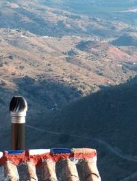 Das Ufo auf dem Dach der Finca Mikaela in Andalusien - Spanien