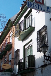Frontansicht Hostal Galan Fuengirola Costa del Sol Andalusien Spanien