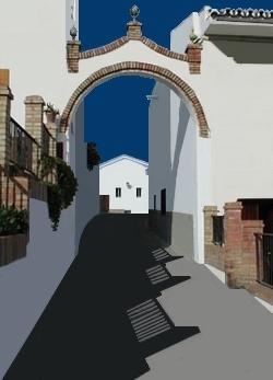 Straße in Cártama in der Provinz Málaga Andalusien Spanien