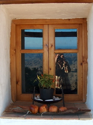 Wohnraumfenster Finca Mikaela Provinz Málaga Andalusien Spanien