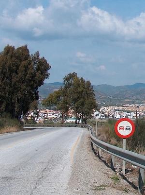 Fahrt nach Cártama in der Provinz Málaga Andalusien Spanien
