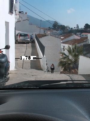 schmale Gassen in Mijas Pueblo Barrio Santana in der Provinz Málaga