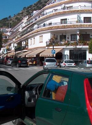 Ankunft in Mijas Pueblo in Andalusien Provinz Málaga Spanien