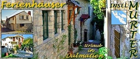 Ferienhäuser und Ferienwohnungen für ihren Urlaub auf der Kornaten-Insel Murter in Dalmatien/Kroatien