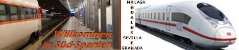 Mit der Bahn, dem Zug durch Andalusien - Spanien