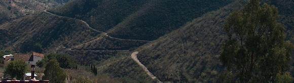 Der Weg von der Finca Mikaela zwischen Almogía und Alora nach Pizarra Andalusien Spanien