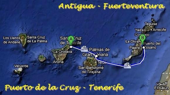 Umzug von der Kanaren-Insel Fuerteventura auf die Kanaren-Insel Teneriffa