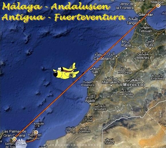 Umzug von Malaga Andalusien auf die kanarische Insel Fuerteventura Spanien