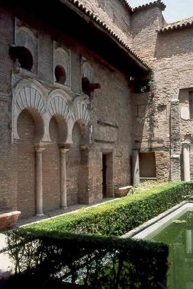 Alcazar-Garten - Stadt Sevilla - Provinz Sevilla - Andalusien - Spanien