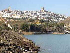 James Bond Hund - Das weisse Dorf - Arcos de la Frontera - Provinz Cádiz - Andalusien - Spanien