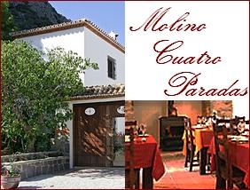 Hotel Molino Cuatro Paradas Benaoján Provinz Málaga Andalusien Spanien