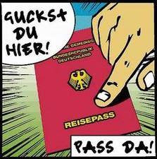 deutscher Paß - Comic