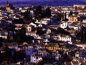 Das Barrio Albaicin in Granada, Andalusien, Spanien