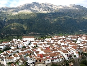 James Bond Hund - Das weisse Dorf - Jimera de Libar - Provinz Málaga - Andalusien - Spanien