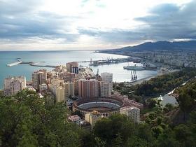 James Bond im Hafen von Málaga Costa del Sol Andalusien Spanien