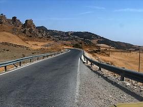 Strasse durch den Naturpark El Torcal - Provinz Málaga - Andalusien - Spanien
