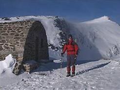 Skihütte im Nationalpark Sierra Nevada, Andalusien, Spanien