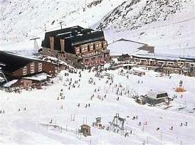 Skistation Dominio im Nationalpark Sierra Nevada, Andalusien, Spanien