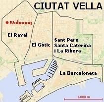 40 qm Studentenwohnung in Barcelona Ciutat Vella El Raval Katalonien Spanien zu verkaufen