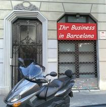 Hausansicht-Front  Laden Boutique Geschäftsräume mit Gartenwohnung in Barcelona Eixample  Costa Brava Costa del Maresme Katalonien Spanien zu verkaufen