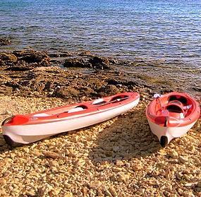 Kajak-Touren Vermietung Wassersport Ozi Insel Murter Dalmatien Kroatien