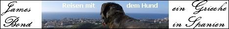 James Bond der Hund der Ideen-Werkstatt FIM Las Palmas in Fuengirola an der Costa del Sol
