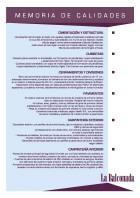 español - Memoria de Calidades - Download PDF