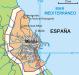 Landkarte - Enklave Melilla - Spanien