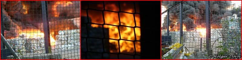 Großbrand bei der Firma Alba