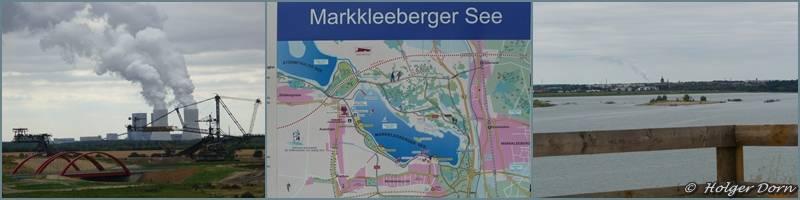 Blick auf das Kraftwerk Lippendorf und auf den Markkleeberger See